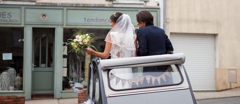 Location 2CV Mariage à Angers et en Maine-et-Loire
